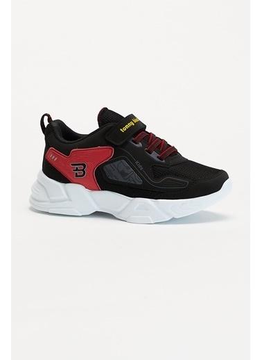 Tonny Black Siyah Kırmızı Çocuk Spor Ayakkabı Tbz31 Siyah